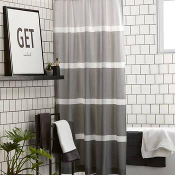 Rideau de douche nuances de gris