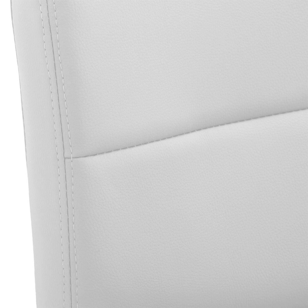 Tabouret de bar ajustable en similicuir mat et en chrome