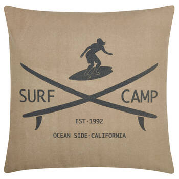 "Surf Camp Decorative Pillow 19"" x 19"""