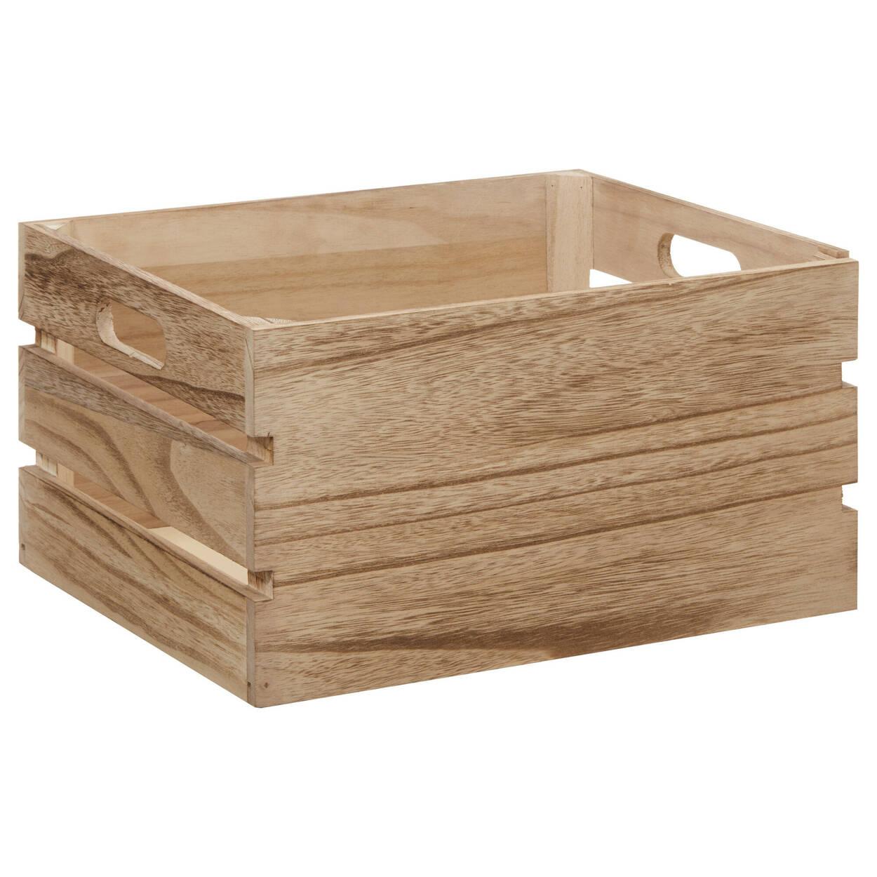 Caisse en bois naturel