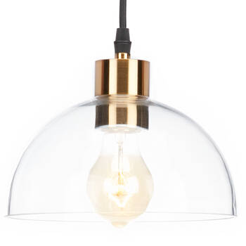 Glass and Metal Ceiling Lamp