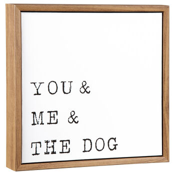 You & Me & The Dog Framed Art