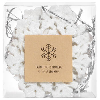 Set of 12 Snowflakes Ornaments