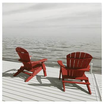 Tableau imprimé chaises Adirondack