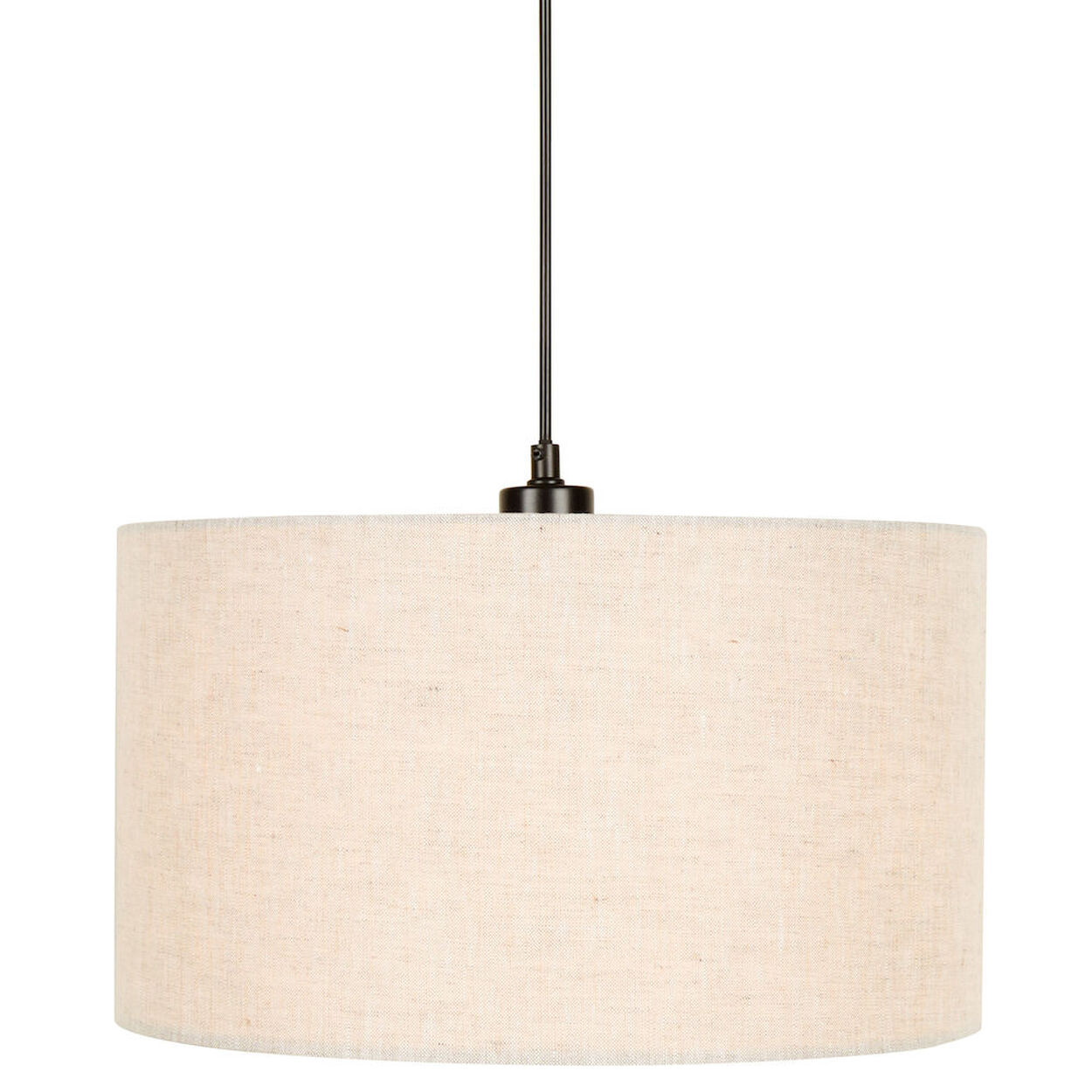 Round Linen Ceiling Lamp