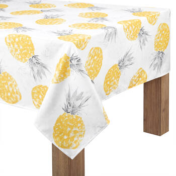 """Pineapples Tablecloth 60"""" X 84"""""""