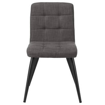 Tufted Chita Fabric and Metal Dining Chair