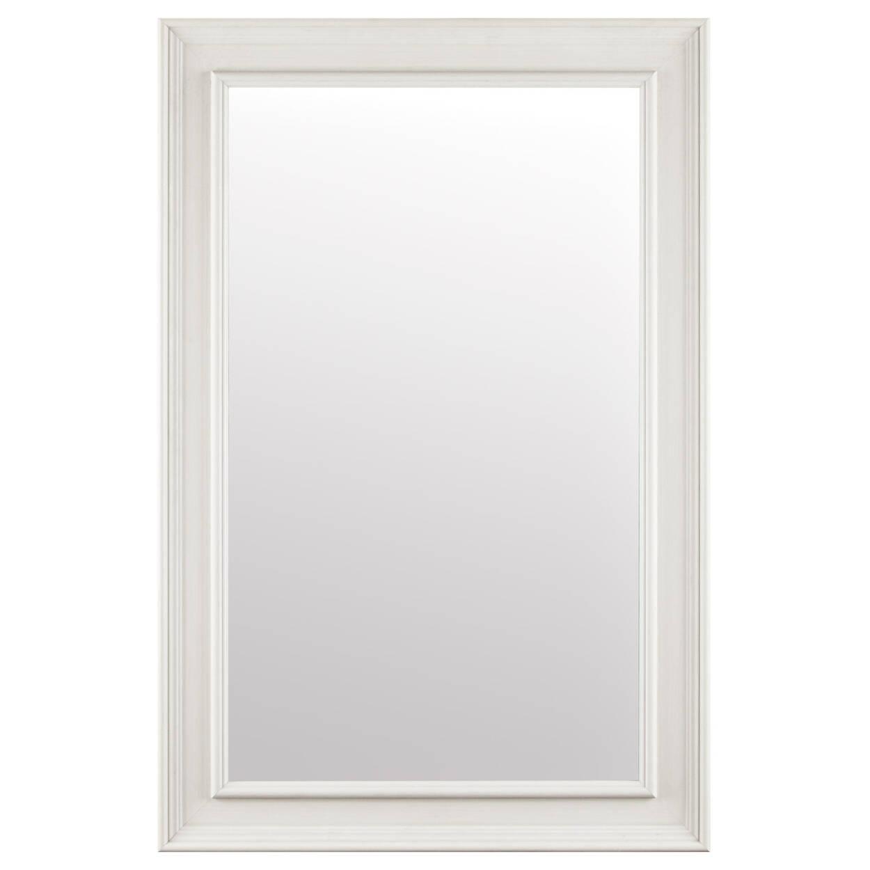 Miroir en bois blanchi