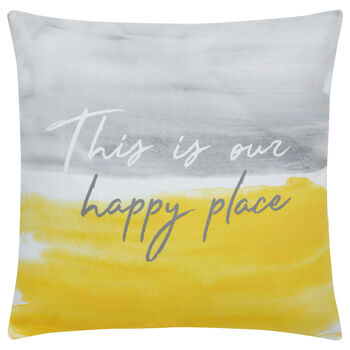 "Happy Decorative Pillow 18"" X 18"""