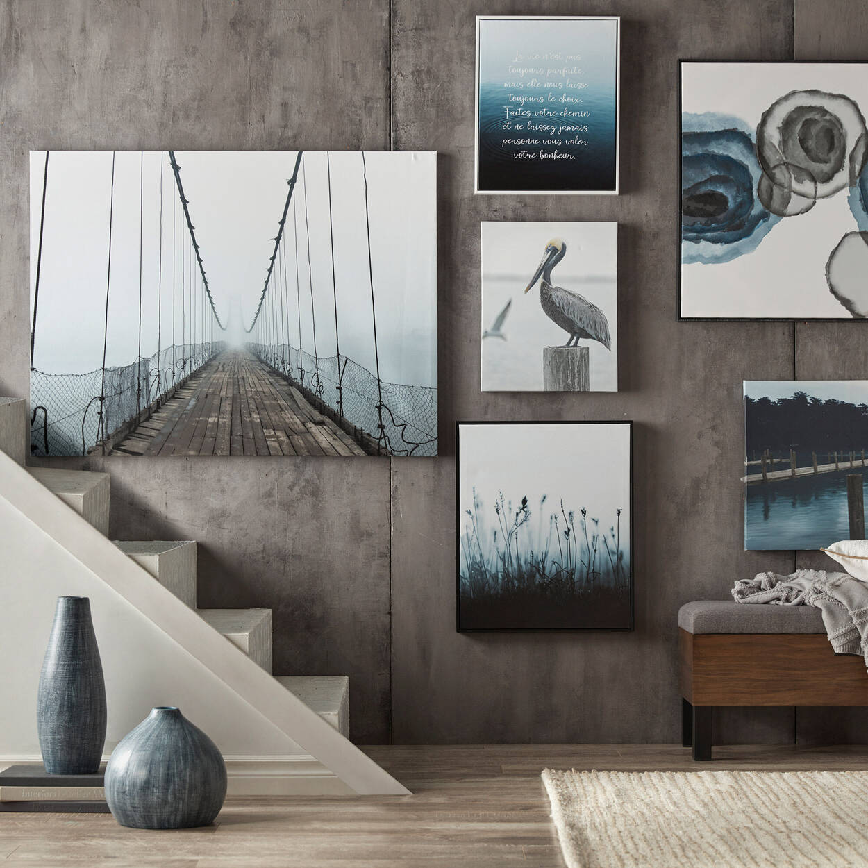 Suspended Bridge Printed Canvas