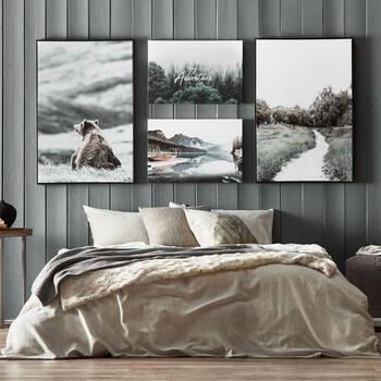 Calm Lake Printed Canvas