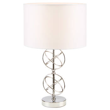 Chrome Sphere Table Lamp