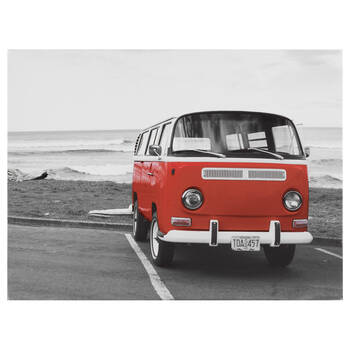 Red Bus Printed Canvas