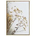 Foil-Embellished Framed Branches Printed Canvas