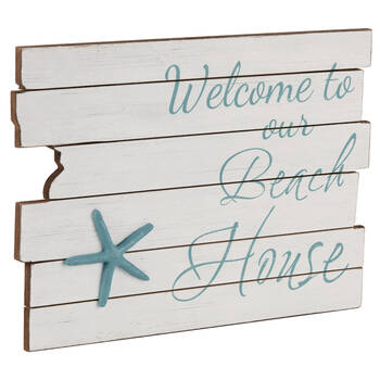 Beach House Wooden Plaque