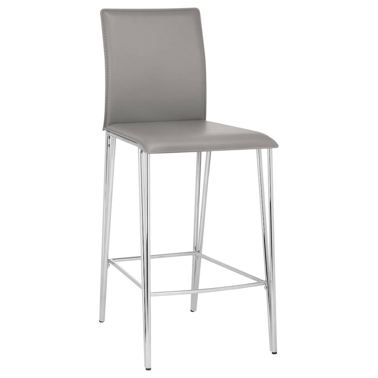 Awesome Faux Leather And Metal Counter Stool Gmtry Best Dining Table And Chair Ideas Images Gmtryco