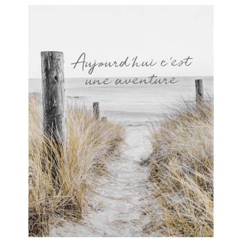 Aventure Typography Printed Canvas