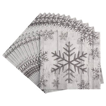 Pack of 20 Snowflakes Paper Napkins