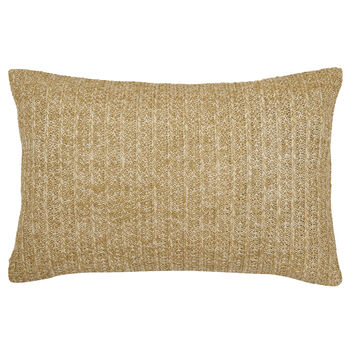 "Straw Water-Repellent Decorative Lumbar Pillow 15"" X 24"""
