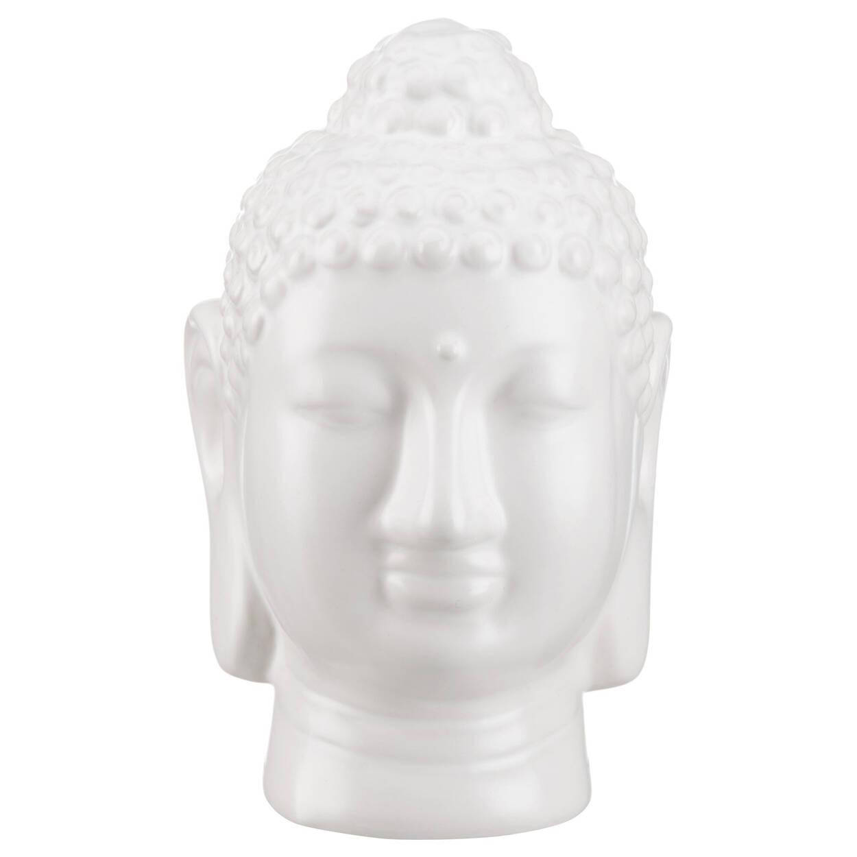 Statue de tête de Bouddha en céramique