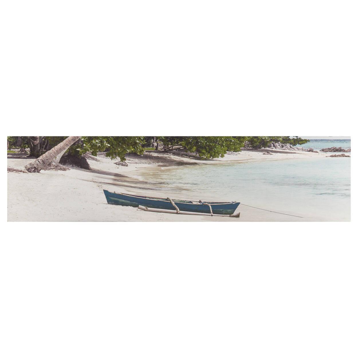 Tableau imprimé canoë sur la plage