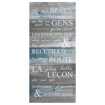 Plus beaux cadeaux Typography Canvas