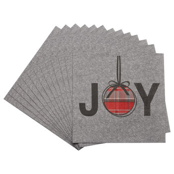 Pack of 20 Joy Paper Napkins