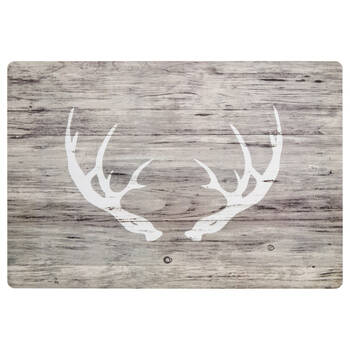 Faux Wood Deer Antlers Placemat