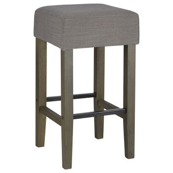 Fabric and Wood Bar Stool