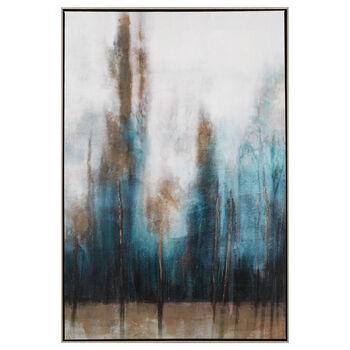 Gel Embellished Abstract Framed Art