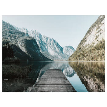 Calm Moment on Lake Printed Canvas