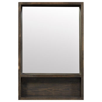 Wood Mirror With Shelf