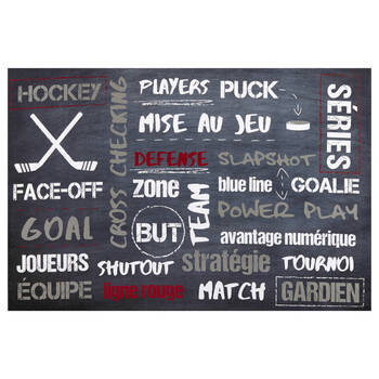 Hockey Typography Canvas