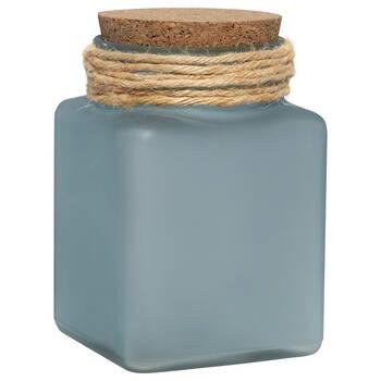 Pot en verre givré avec bouchon de liège