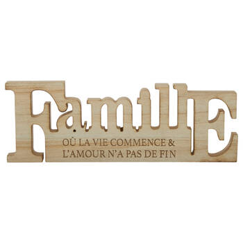 Famille Wooden Decorative Word