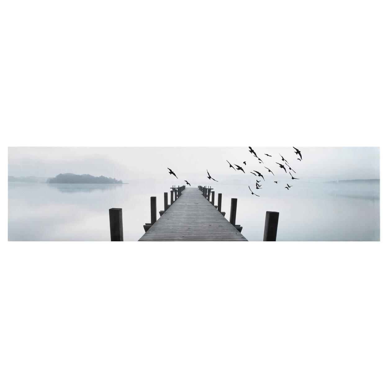Tableau imprimé oiseaux près du quai