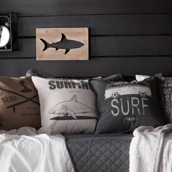 """Coussin décoratif Surf Camp 19"""" x 19"""""""