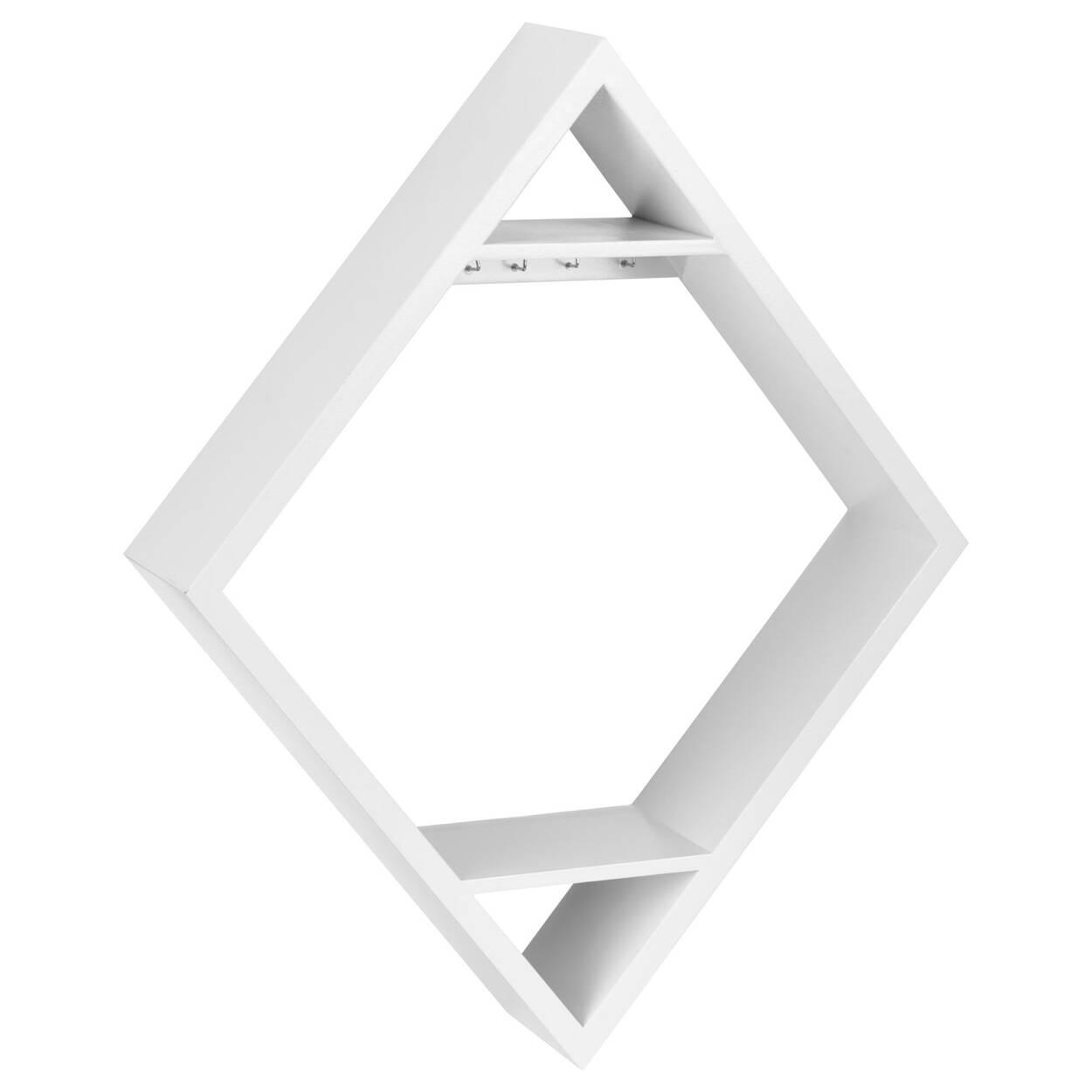 Diamond Shaped Wall Shelf