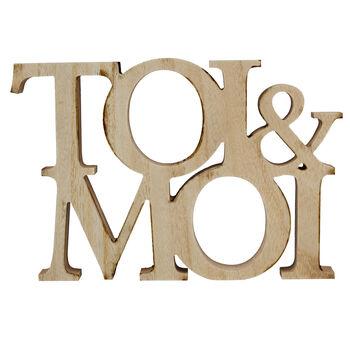 Mots décoratifs Toi & Moi