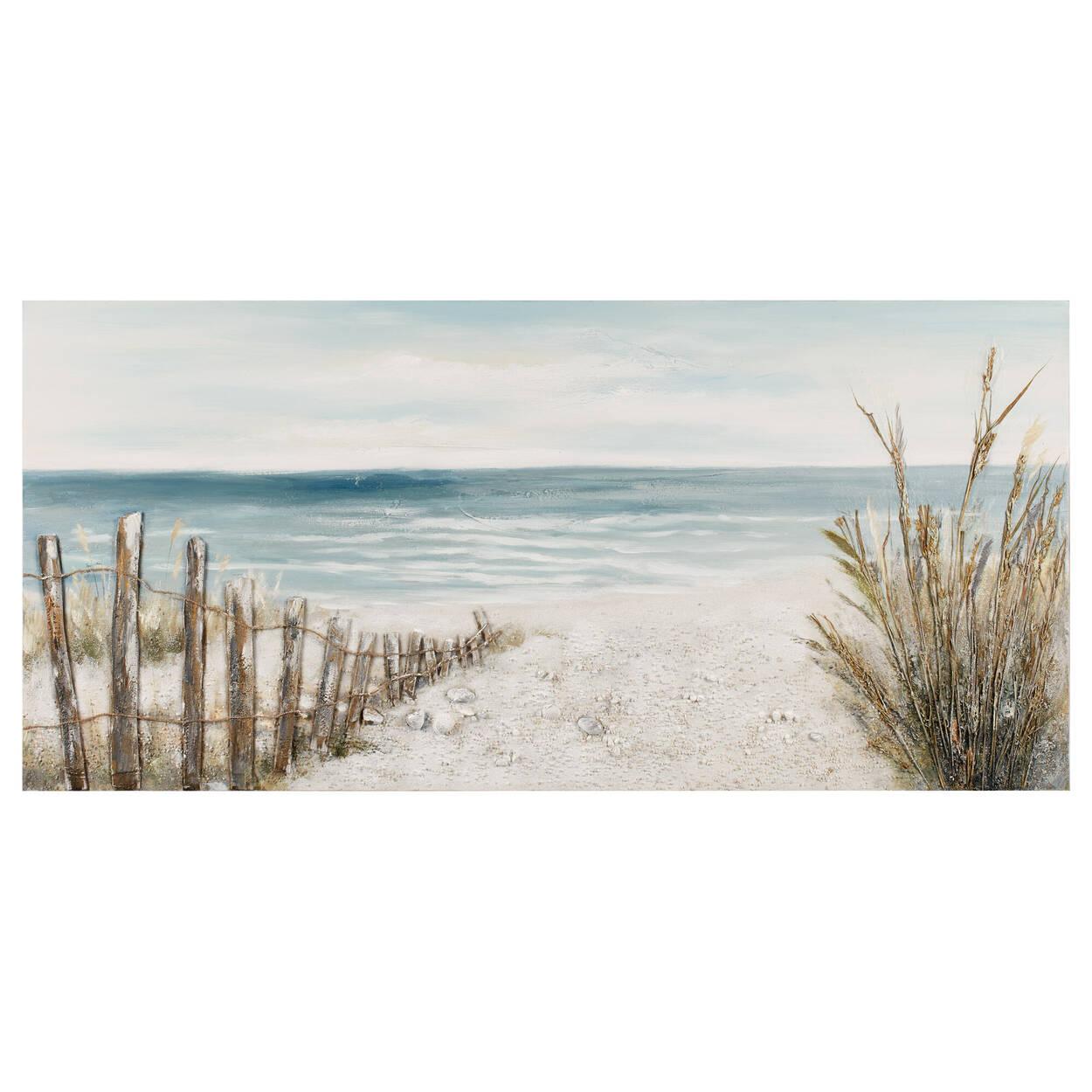 Chemin de plage peint à l'huile