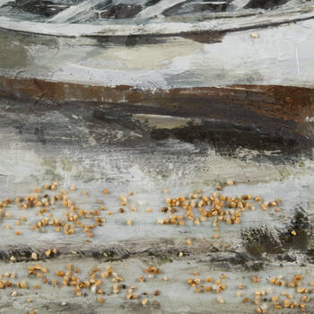 Tableau imprimé embelli au gel bateaux échoués