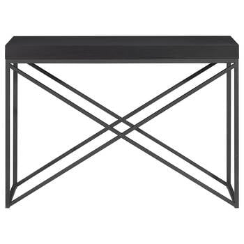Veneer and Metal Console Table