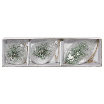 Set of 3 Frosted Ornaments