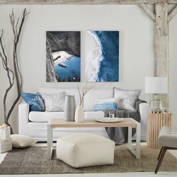 Lagoon Printed Canvas