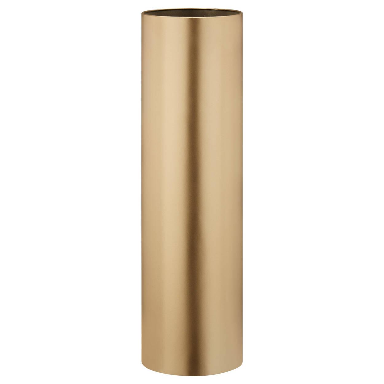 Vase cylindrique en métal sur pied