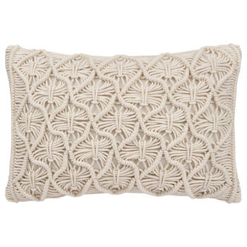 "Maco Macramé Decorative Lumbar Pillow 13"" X 20''"