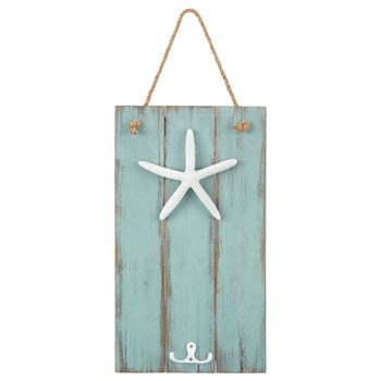 Starfish Hanging Wall Plaque with Hooks