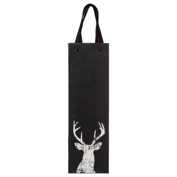 Chalkboard Deer Wine Bag