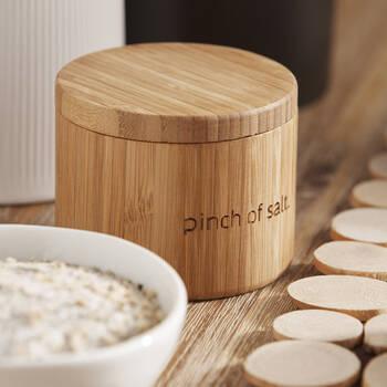 Bamboo Salt Jar