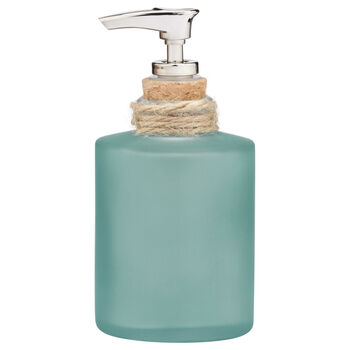 Frosted Glass and Rope Soap Dispenser